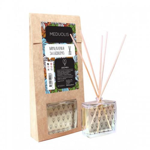 Aromika Meduolis mājas parfimērija ar nūjiņām (difuzors) telpu aromatizēšanai 11g