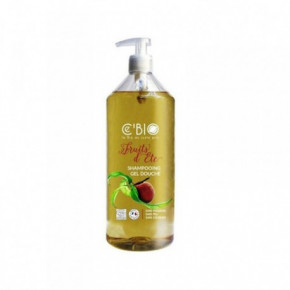 Cebio Apricot And Peach Hair Shampoo And Shower Gel Dušas želeja un šampūns 2in1 ar aprikožu un persiku aromātu 1000ml