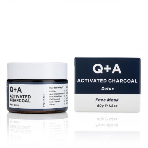 Q+A Activated Charcoal Detox Face Mask Sejas maska 50g